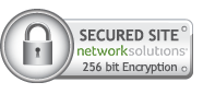 Website Site 256 bit Encryption Security Seal by Network Solutions